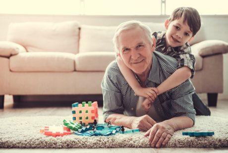 Elderly Man with Grandchild - Weldon Funeral Services Bournemouth Poole Christchurch Dorset